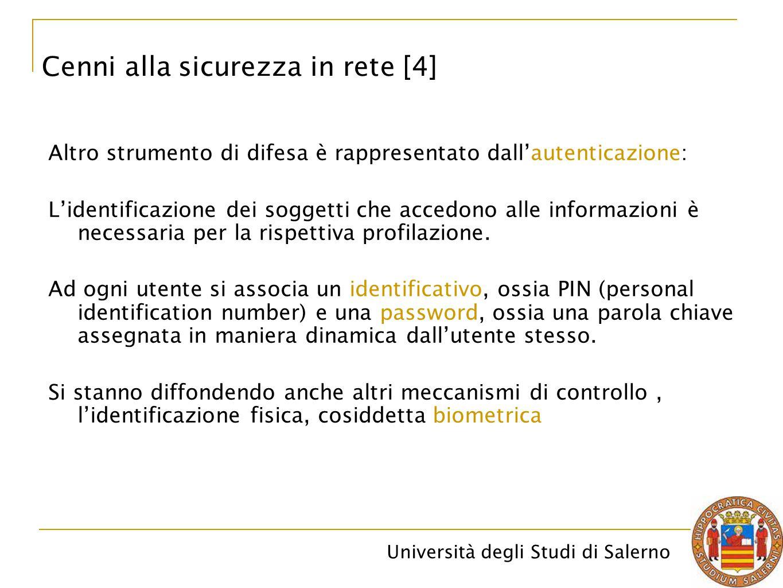 Cenni alla sicurezza in rete [4]